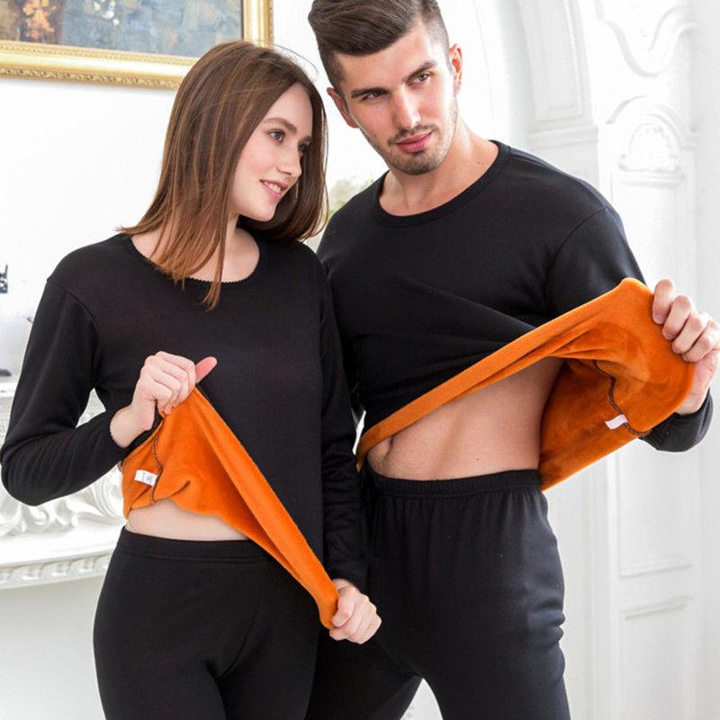 2020新款男女士双层加绒加厚黄金绒暖甲保暖内衣秋衣秋裤情侣套装