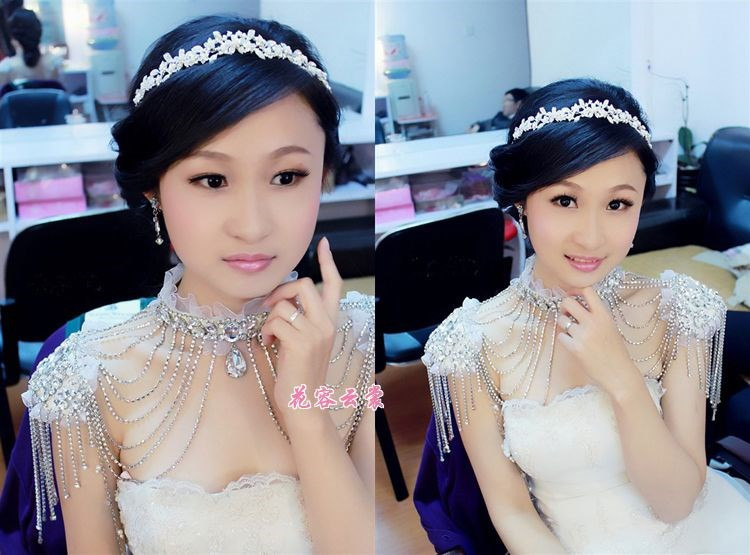 Postal Japanese and Korean bridal shoulder chain necklace jewelry chain Wedding Dress Bridal shoulder jewelry diamond diamond crystal shoulder strap