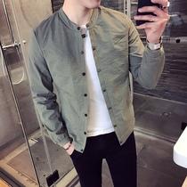 2020夹克男新款韩版潮流修身帅气青年百搭薄款春秋季男士休闲外套