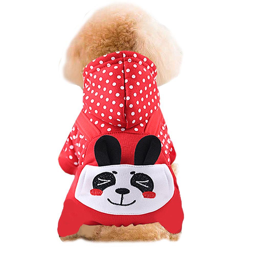 四脚衣狗狗猫咪宠物衣服秋冬中型口袋刺绣熊泰迪比熊小加厚犬用品