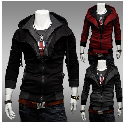 2018 new sweater spring and autumn new mens sweater casual coat hooded cardigan sweater thin coat