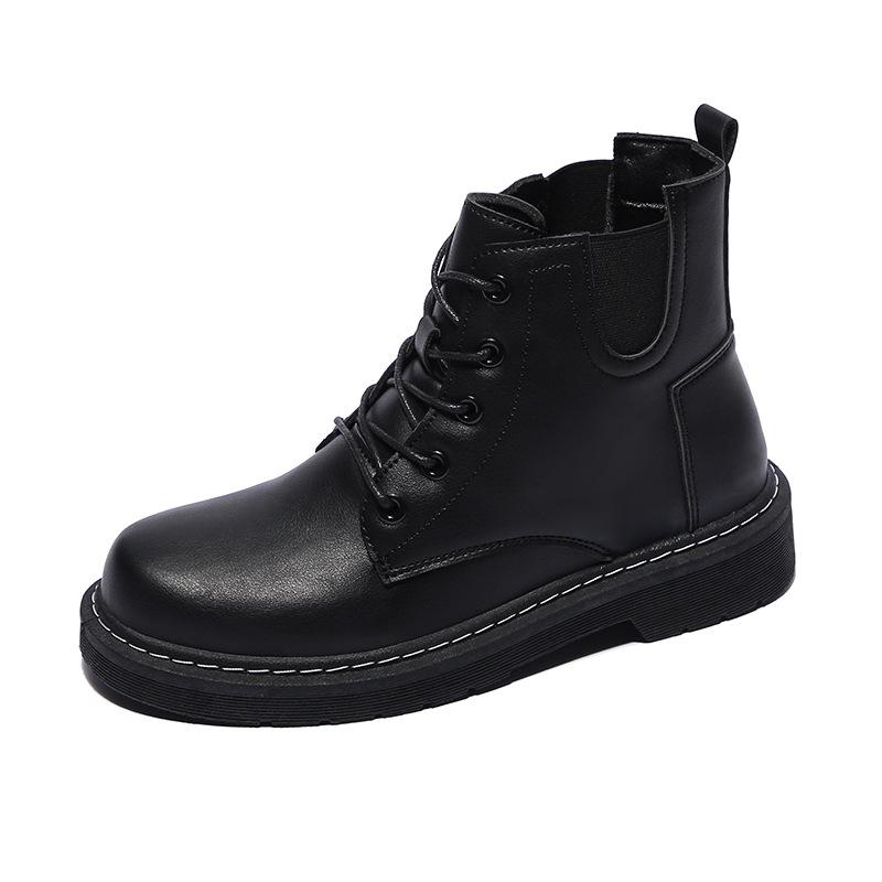 秋冬季百搭英伦风马丁靴厚底短靴瘦瘦女靴