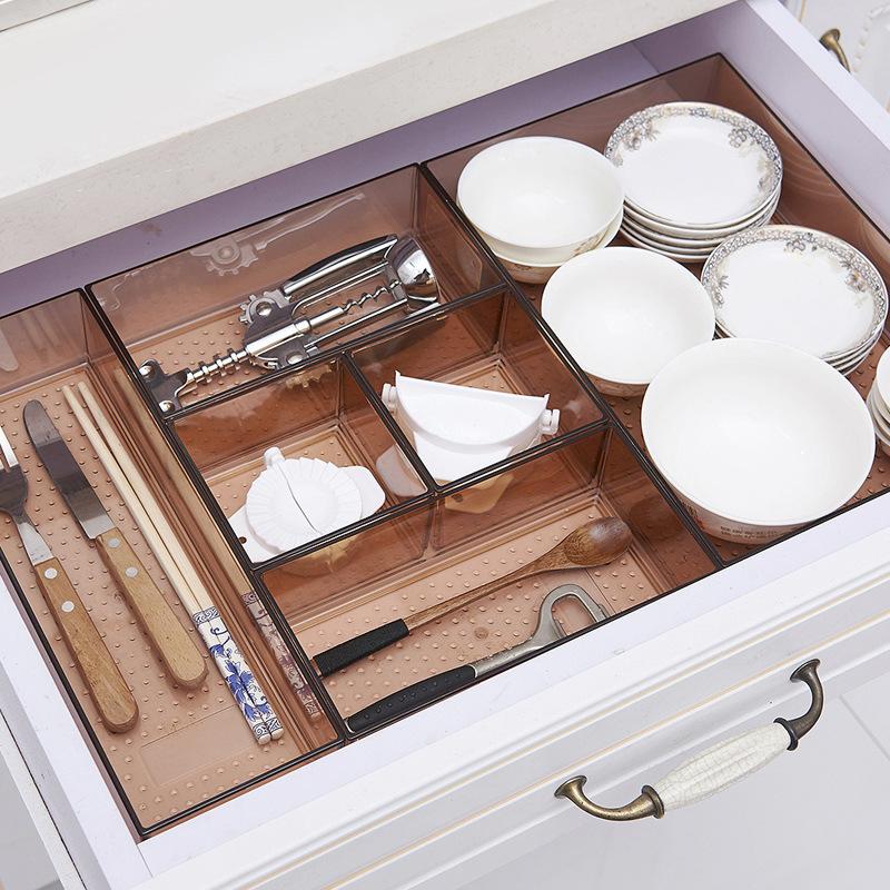 自由组合抽屉收纳分隔宜家整理盒