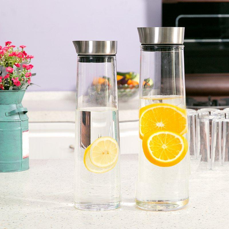 大容量冷水壺家用泡茶壺 耐熱果汁壺耐高溫防爆德國玻璃涼水壺