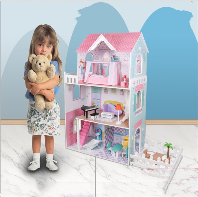 Spot girls house doll house mini furniture accessories childrens role-playing wooden toys can be customized