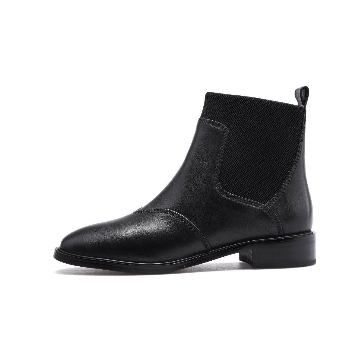 Pierre Cardin Martin boots womens English style leather flat sole single boots womens fall / winter 2020 versatile Chelsea short boots