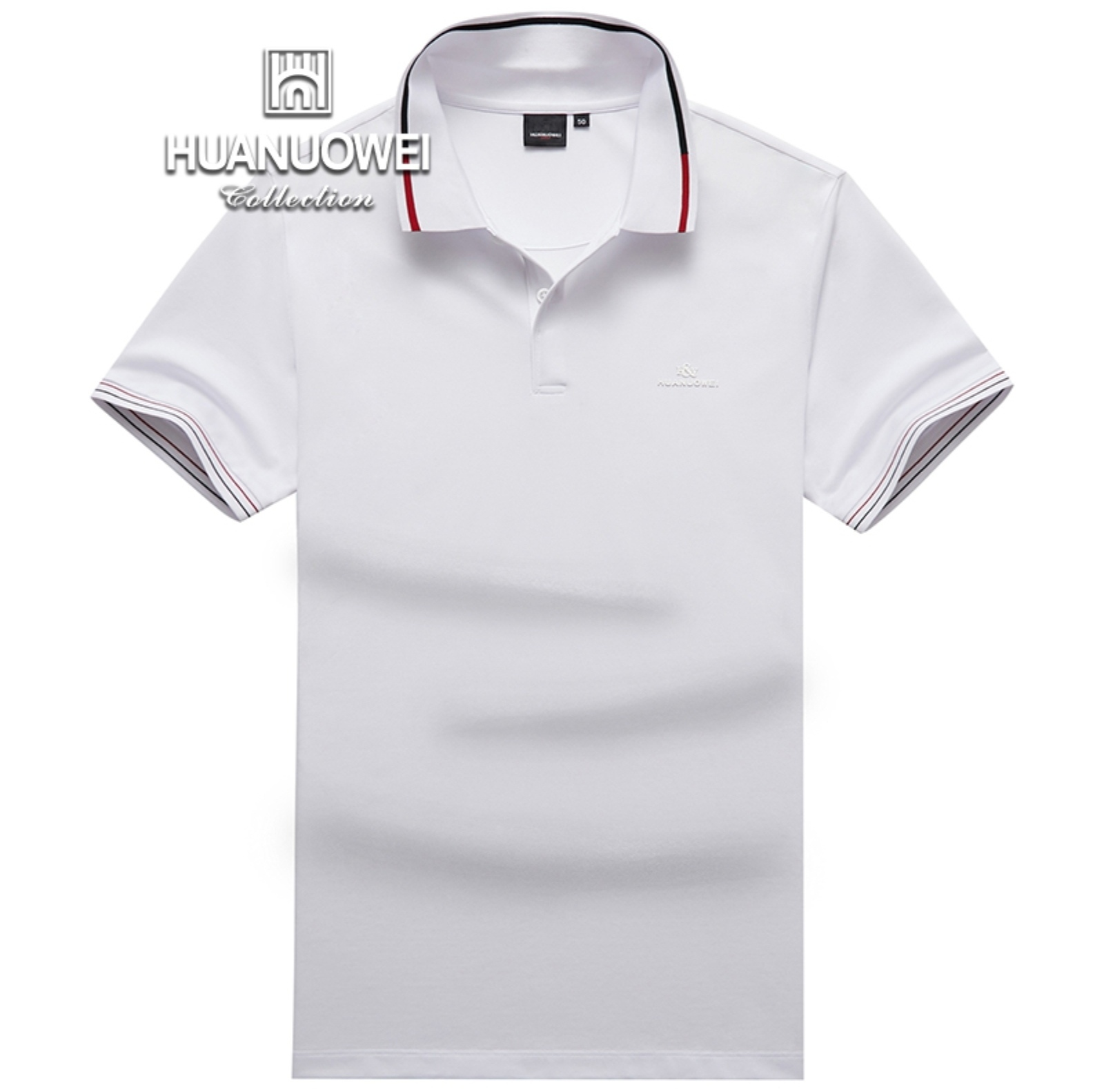 Warwick polo shirt mens short sleeve T-shirt middle age Lapel three dimensional printing solid color loose business leisure fashion