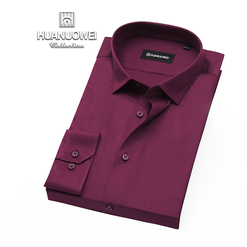 Warwick mens comfortable business casual dress solid color shirt long sleeve