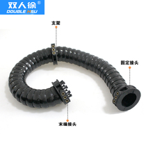 Three-dimensional drag chain robot manipulator Drag chain Universal drag chain closed rotating multidimensional motion drag chain