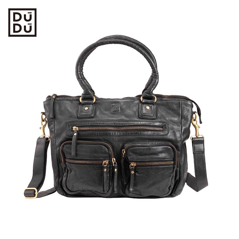 Dudu handbag Italian luxury retro handbag zipper One Shoulder Messenger Bag