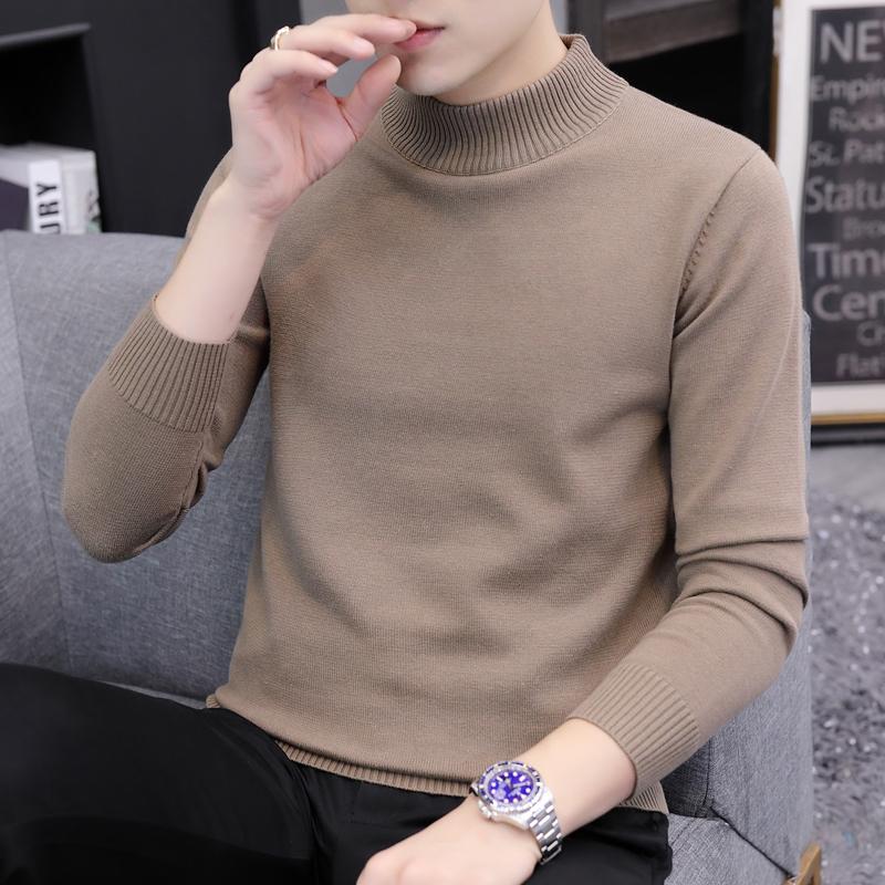毛衣男士圆领针织打底衫长袖韩版潮流个性黑色线衣秋冬男装上衣服