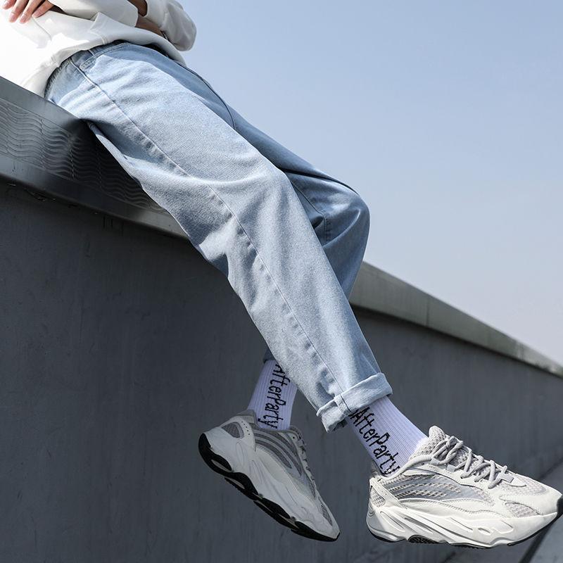 2021新款牛仔裤男潮牌春夏季宽松直筒舒适休闲学生百搭韩版潮流