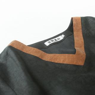 念如原创真丝香云纱短上衣女桑蚕丝龟纹T恤中式短袖复古莨绸高端