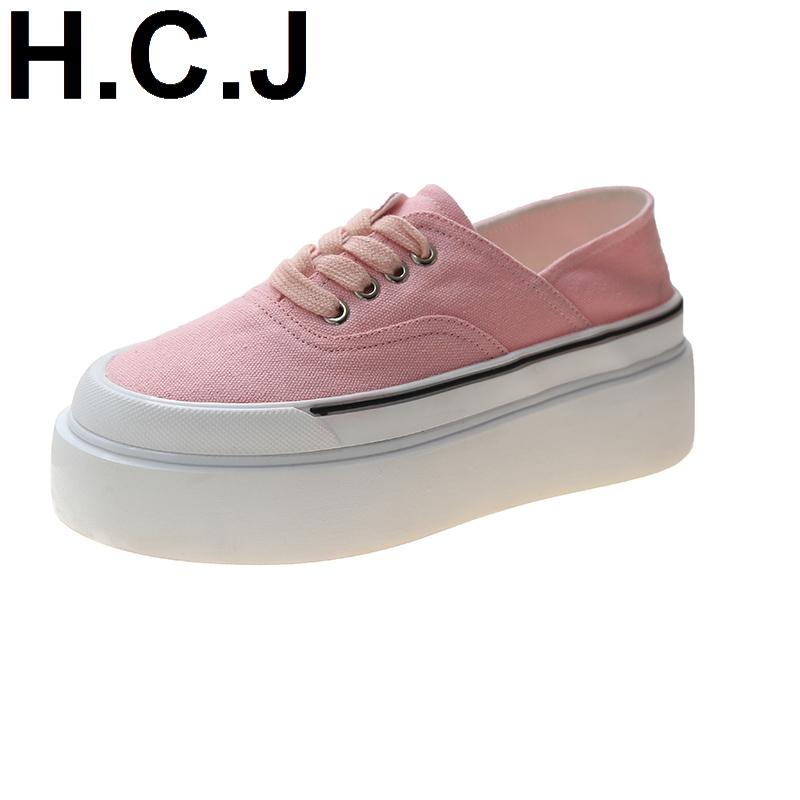 帆布鞋厚底松糕休闲2021春夏时尚板鞋潮学生韩版小白女鞋潮