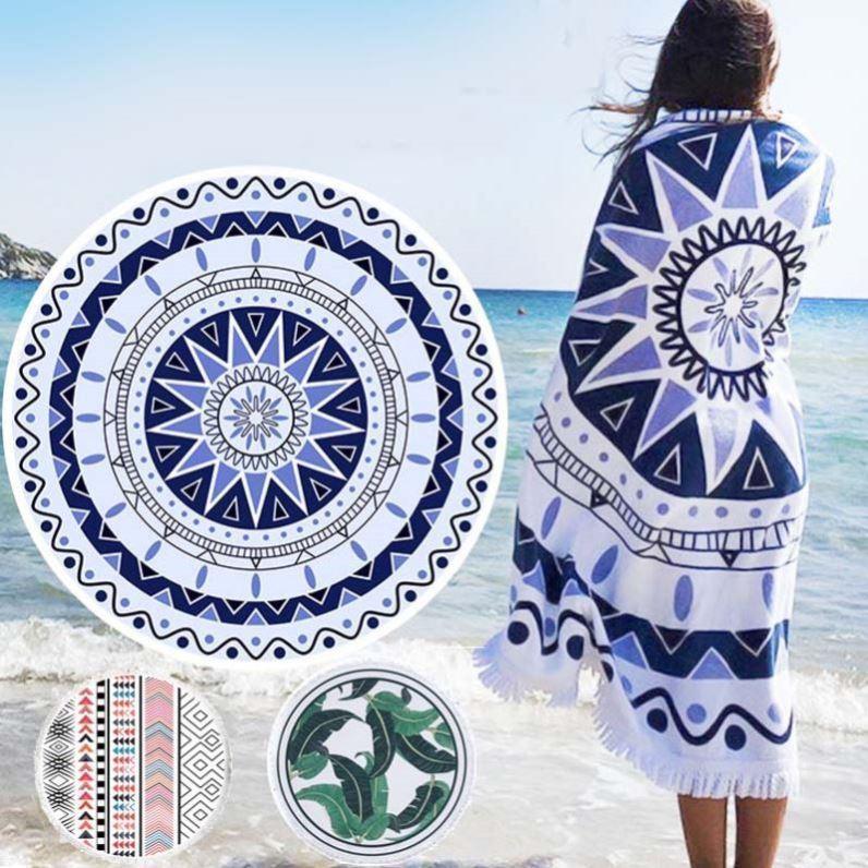 地垫纱巾ins海边拍照裹裙丝巾瑜伽垫欧美风围巾运动海边度假披肩