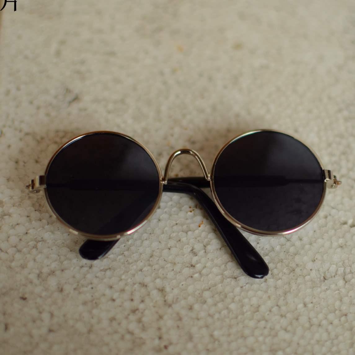 Pet master round small glasses decoration props Sunglasses small dog glasses cat glasses dog