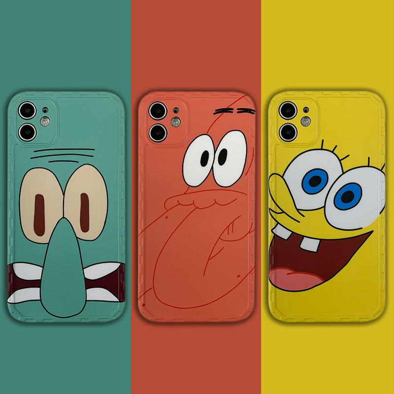 タオバオ仕入れ代行-ibuy99 iphone 海绵宝宝派大星章鱼哥适用苹果12手机壳iPhoneX软壳xsmax女8plus硅胶7p个性11pr…