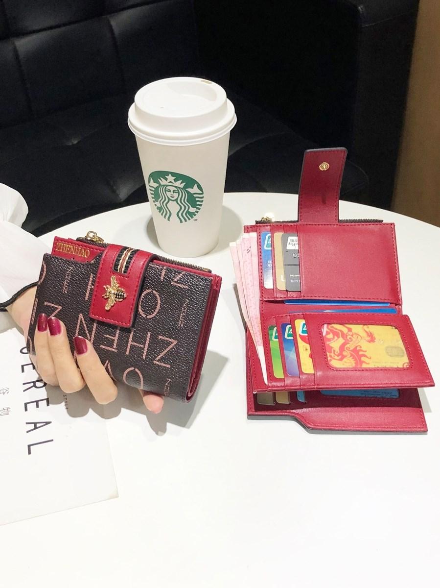 小钱包女短款2020新款皮夹女式拉链零钱卡包折叠钱夹女士零钱卡包