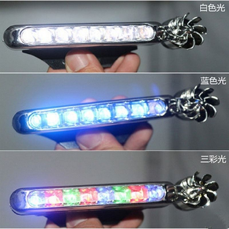 Light emitting external accessories wind energy car LED daytime running lights wind energy car interior atmosphere front