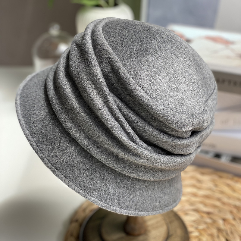 Shangwei hat childrens 20 new autumn and winter Japanese fashion casual wool cloth soft and warm ear protection basin hat tide