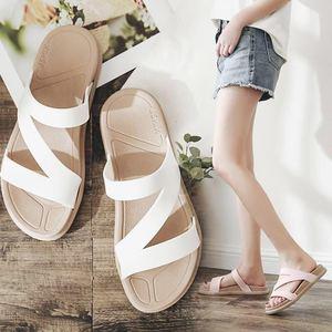 简约百搭夏季韩版外穿防滑厚底凉拖鞋