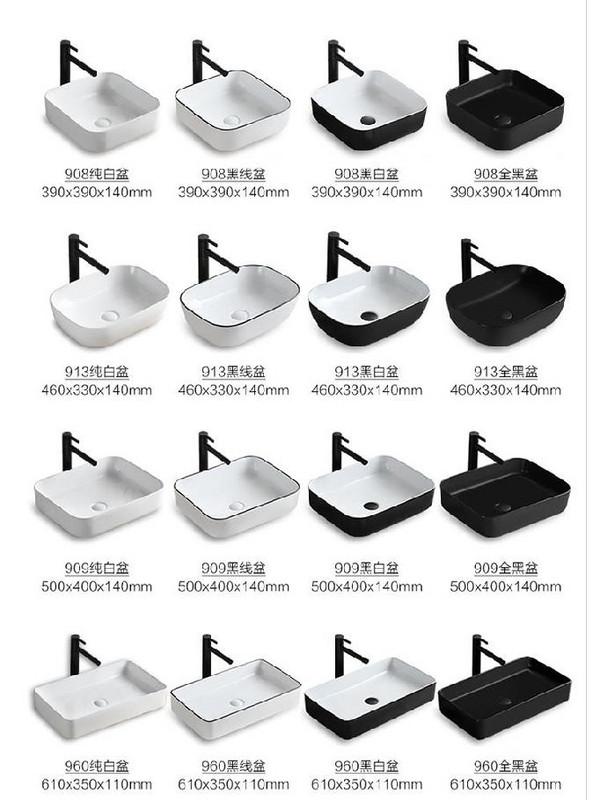 塑料台上洗脸盆水龙头足浴桶子切角下水管下浴室洗手槽一体式柜子