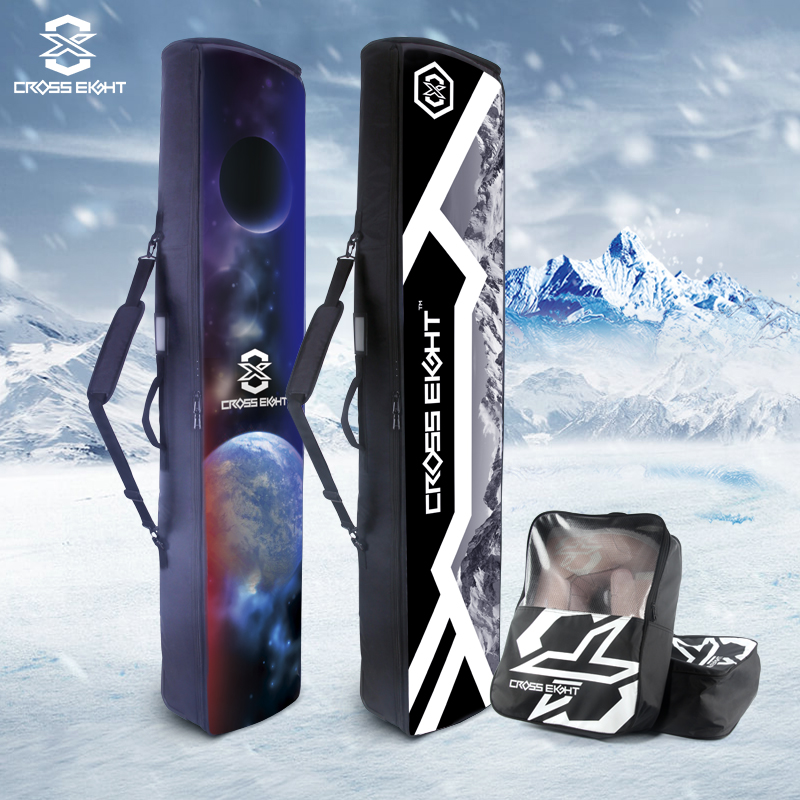 Crosslight Snowboard pack single and double board retractable large capacity belt wheel dry wet separation waterproof snowware equipment