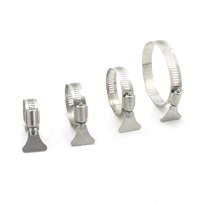 。钢箍螺丝圆形手柄式扣件不绣钢圆柱拉饵盘关卡配件卡箍扣带固定