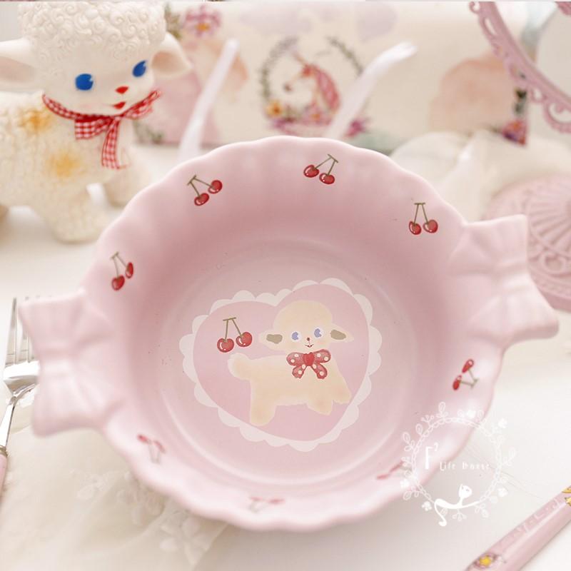 碗韩版ins风北欧风格可爱的陶瓷碗学生网红女生超萌少女心小号碗