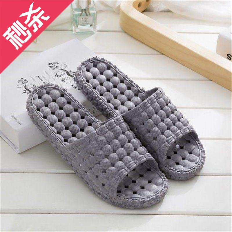 Light 4 slipper bathroom antiskid bath water leakage sole with holes breathable cutting household sandals indoor home speed