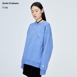 薇娅推荐 Giulio D'alessio设计师联名款 字母西瓜籽圆领卫衣女图片