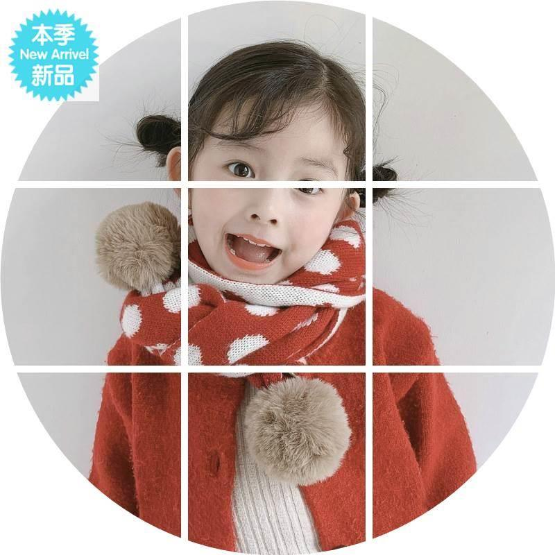 New knitted wool childrens scarf in autumn and winter of 2019