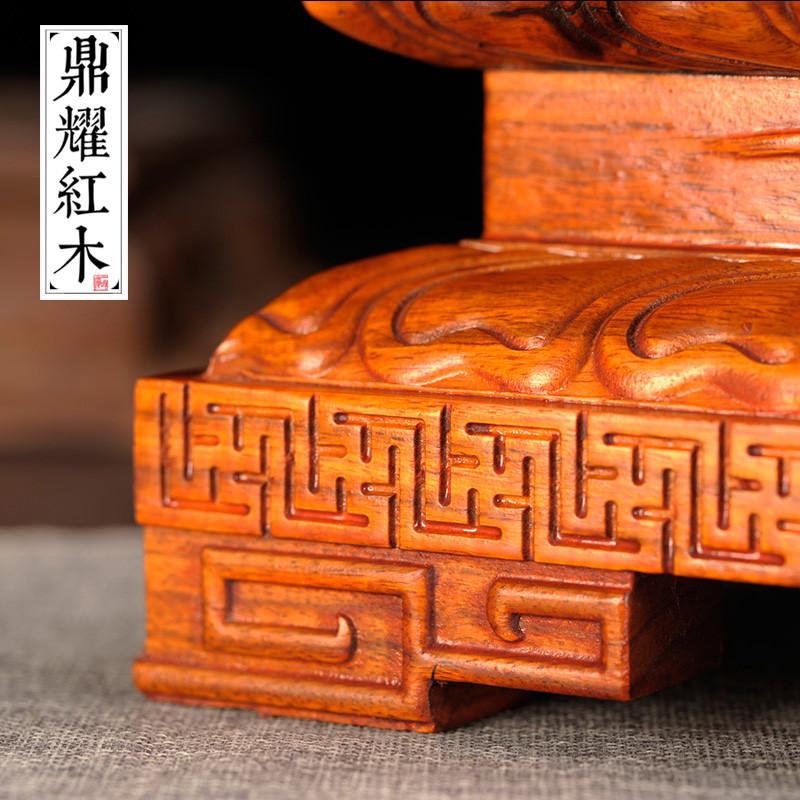 奇石佛像底座实木加高可挖槽供奉观音财神貔貅摆件木质托架木垫子