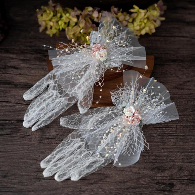 甜美婚纱结婚拍样品模特配饰森系婚礼纪手套韩式春夏季通用装扮搭