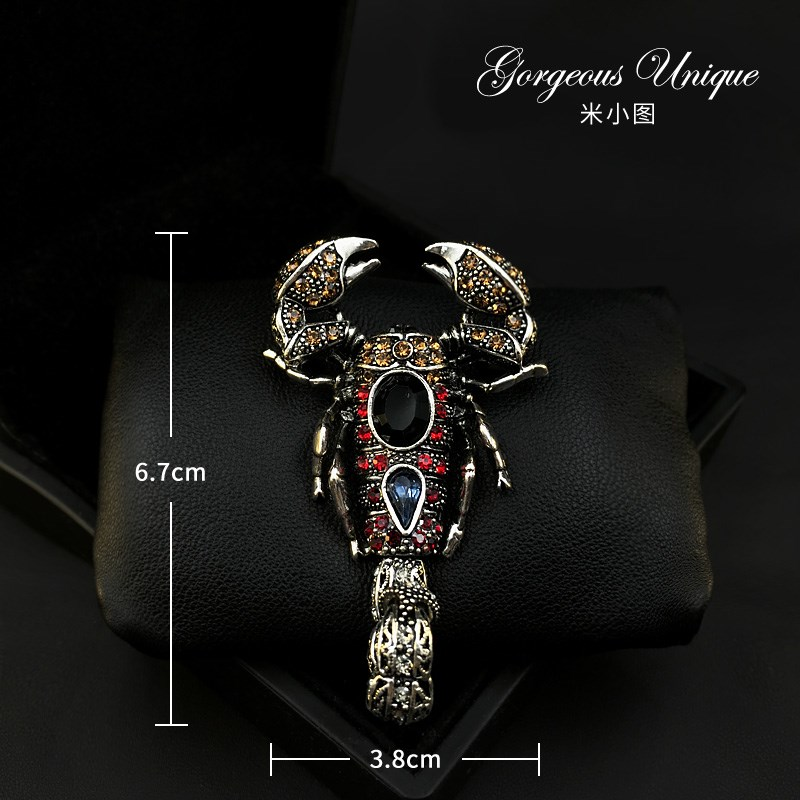 Scorpion exquisite accessories Brooch mens suit jacket Brooch special 578