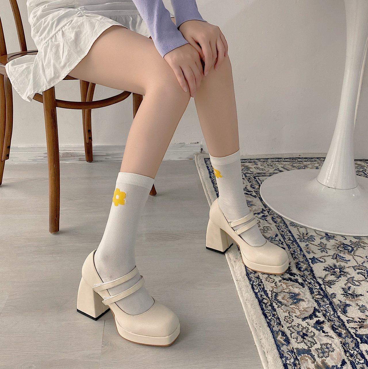 洛丽塔的洛丽塔鞋子高跟亍早皮鞋花嫁鞋洛丽塔鞋少女学生lolita鞋