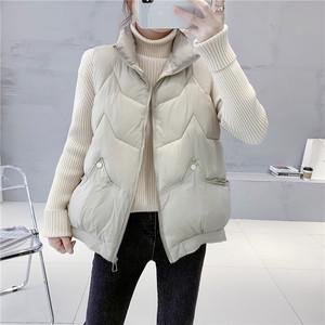 羽绒棉马甲女2020外搭冬韩版宽松短款叠穿背心外穿马夹外套小个子