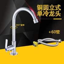 厨房水龙头家用可旋转洗菜盆龙头冷热水槽碗池单冷全铜厨盆洗手盆