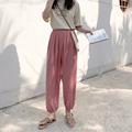 冰丝凉凉夏季束脚裤高腰垂感灯笼裤