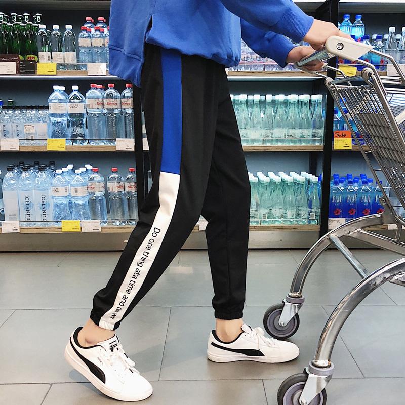 运动裤女秋2018新款ulzzang百搭bf潮原宿风学生韩版宽松显瘦嘻哈