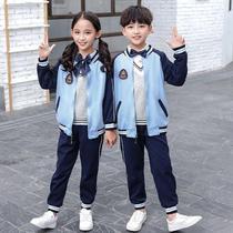 小学生校服套装三件套幼儿园园服春秋装儿童秋季班服英伦风棒球服
