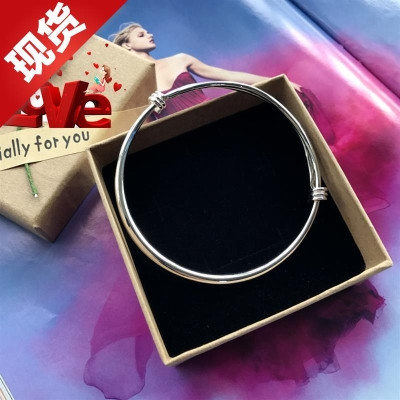 New small bell Bracelet Silver Fashion Chain girls smooth face simple m about versatile temperament 9A foot ring step