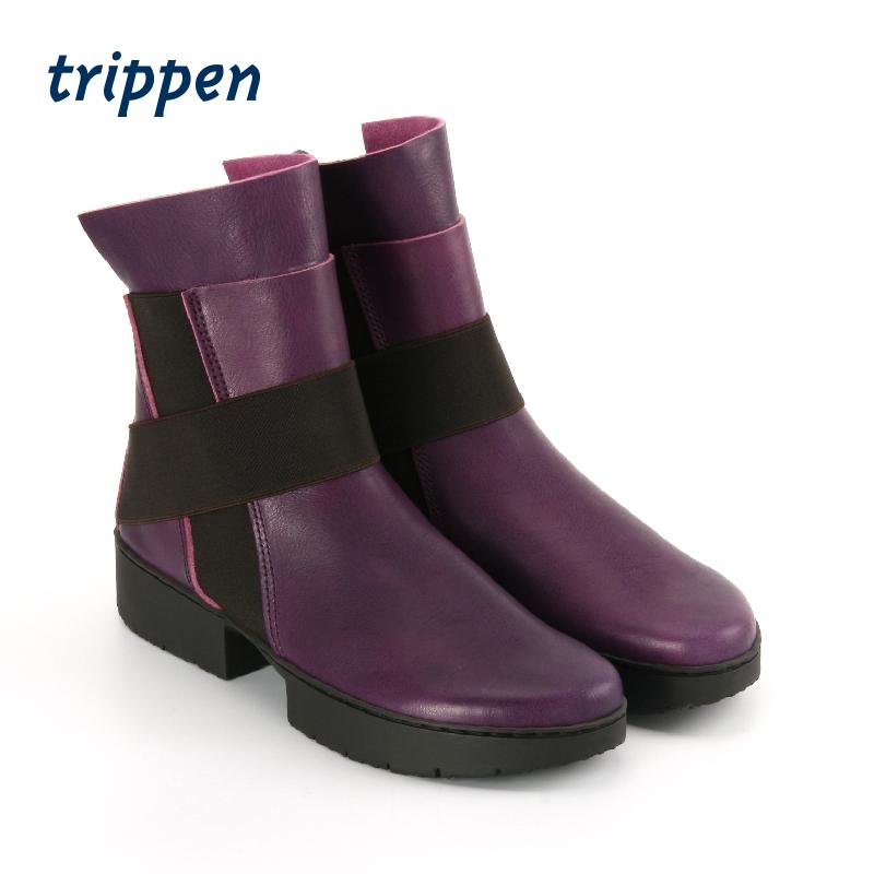 trippen德国设计手工制2020秋冬方跟牛皮短靴套脚款 Scaffold