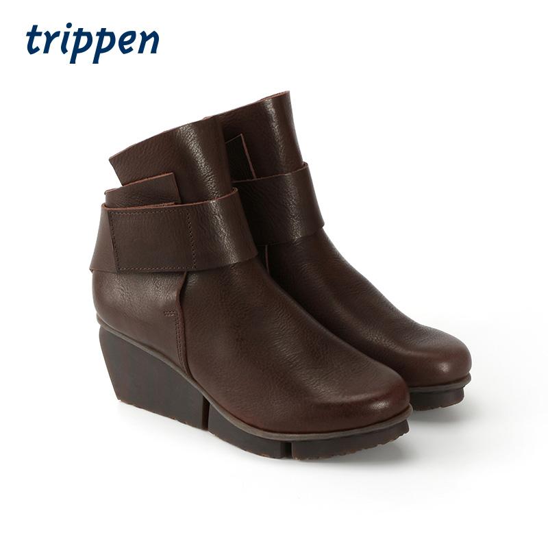 Trippen German designer hand made slope heel boots in autumn and winter 2020