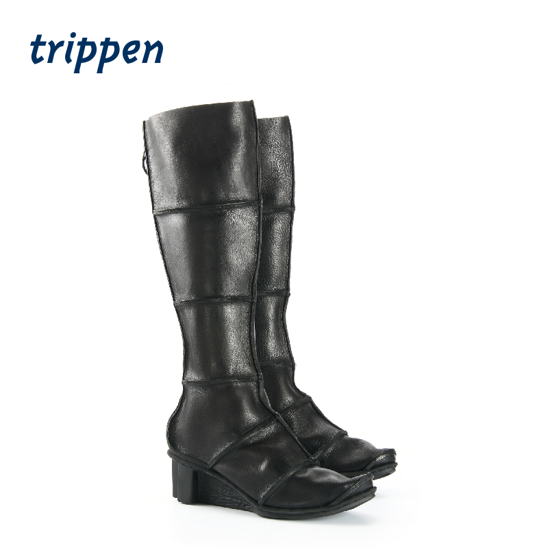 Trippen Germany 2020 new designer hand made slope heel boots zipper high boots territory