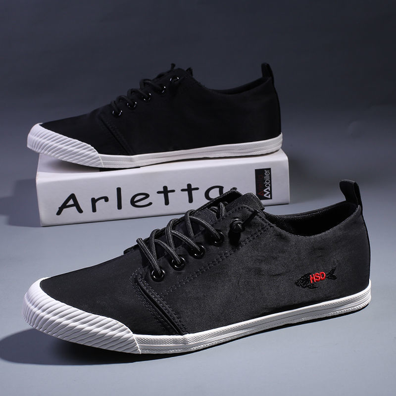 Shoes spring 2020 new canvas board shoes versatile trendy mens shoes mens casual shoes summer breathable mens cloth shoes