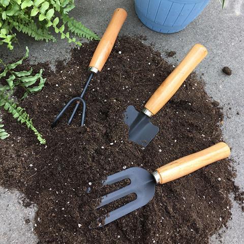 工具用品养花三件套铲子耙移植园艺家用盆栽种菜松土工具