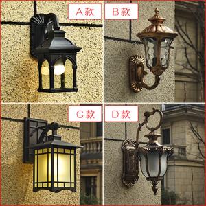 新中式室外壁灯防水复古别墅庭院宾馆走廊过道阳台欧式小户外壁灯