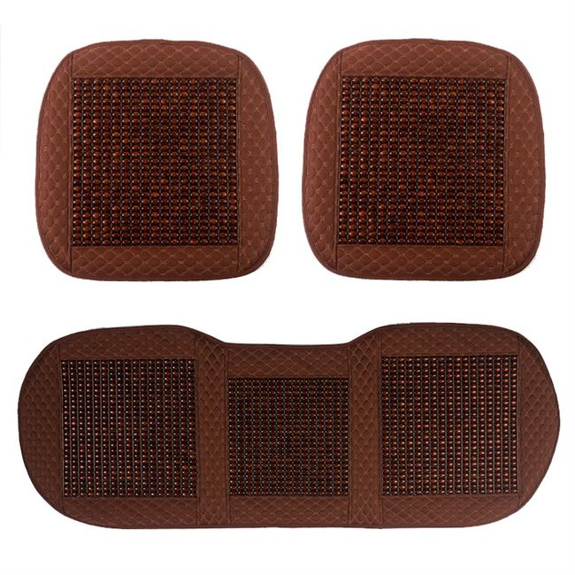 Summer wooden bead car cushion single piece ventilated and breathable car seat cushion set general motors seat cushion cover