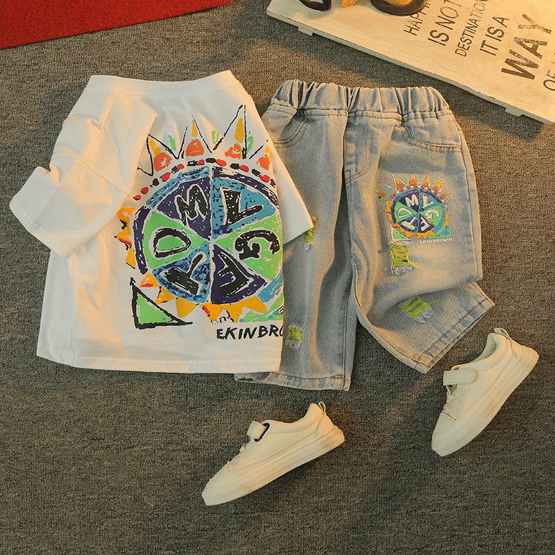 男童夏装套装2021年夏季新款中大童帅气洋气衣服儿童短袖两件套男